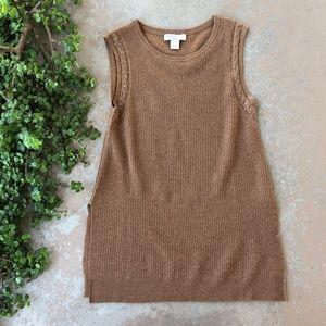 Sigrid Olsen Cashmere Sleeveless Tunic Sweater